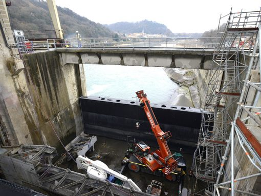 Replacement of EVC on the Beaumont Monteux dam